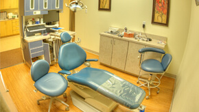 Interior view of dental clinic